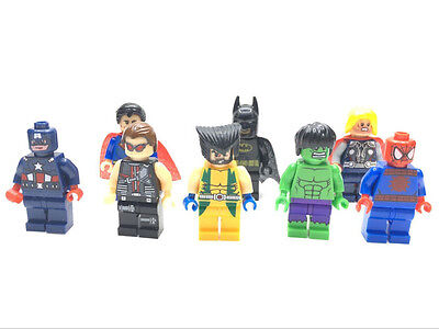 Mini Superhero Figures Construction Building Marvel DC Avengers Batman Fits Lego