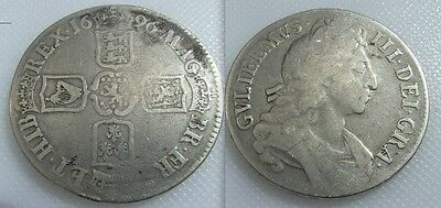 Collectable 1696 King William III Silver Crown - Third Bust 1694-1702