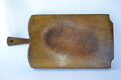French Authentic Large Wooden Wood Butcher Cutting Chopping Board Block 19th.c