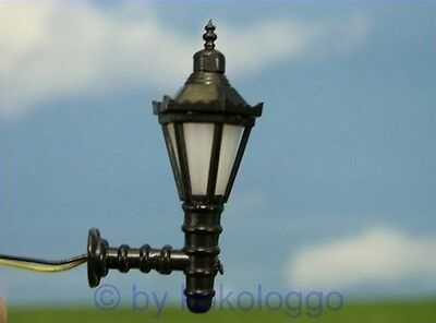 S324 - 5 Pcs Wall Lamps With LED - Height 3,5cm Streetlights lamps