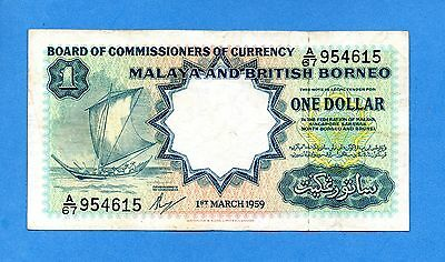 1959 Malaya and British Borneo $1 ( pick one of the two )