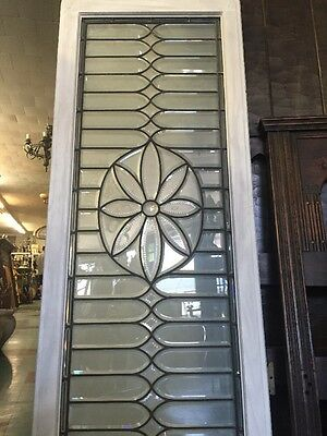 "Leaded Glass Window 61""x25"""