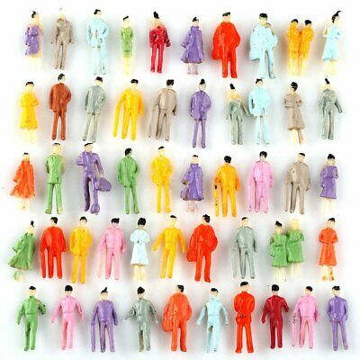 100pcs 1:300 Scale Painted Model People for DIY Layout Figure