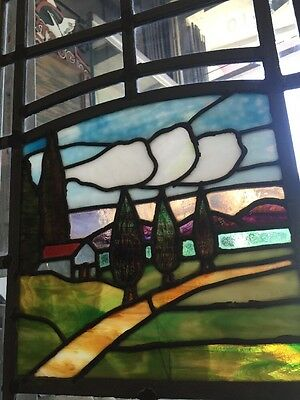Stained-Glass Arts And Crafts Craftsman Style  Leaded  Windows