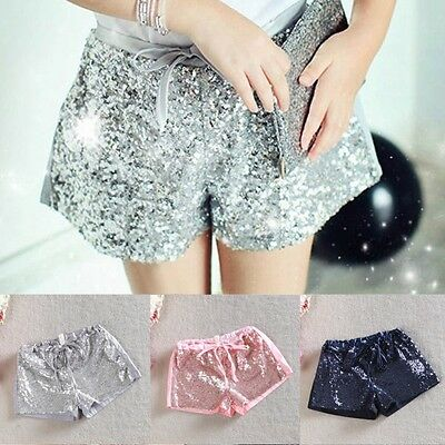 Hot Summer Toddler Kids Baby Girls Sequins Party Shorts Pants Elastic Waist 2-6Y