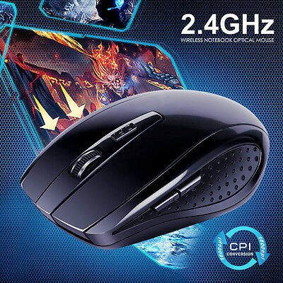 BLACK USB Wireless Optical Mouse for Macbook All Laptop