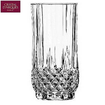 Cristal D'Arques Clear Glass Longchamp 28cl Pack of 6 Highball Tumbler New