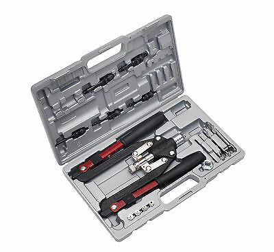 Sealey Ak39602 Rivet & Threaded Nut Rivet Kit Hand Pop Rivet Riveting Gun Tool