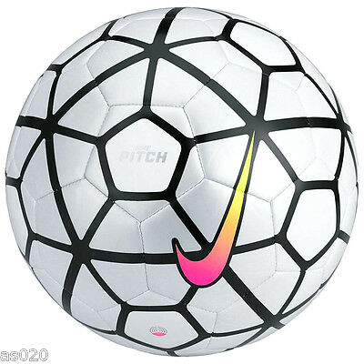 NEW Nike Pitch 2015/2016 Football Soccer Ball - White & Silver - Size 3 4 5