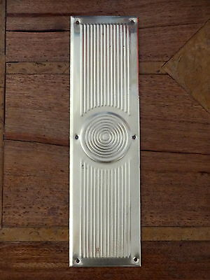 Brass Beehive Finger Door Push Plates Fingerplate