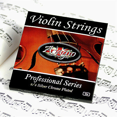 VIOLIN STRING SET 4/4 Concert Tuning - Highest Quality By Adagio RRP £10.99