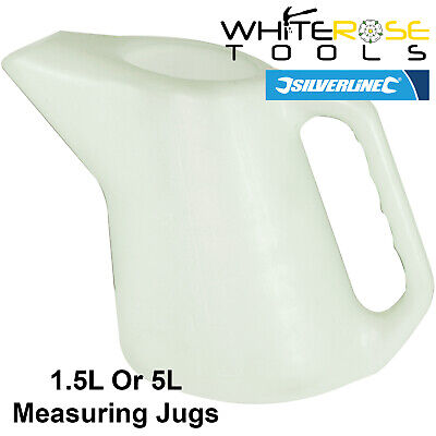 Silverline Measuring Jug 1.5L, 5L Oil Fuel Fluid Container Metric Imperial
