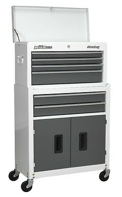Sealey AP2200BB Top chest Rollcab Tool Box Storage 6 Drawer Ball Bearing - White