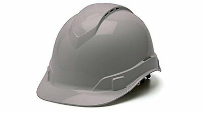Pyramex HP44112V Ridgeline Cap Style Hard Hat with 4-Point Vented Ratchet, Gray