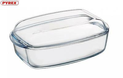 Pyrex Essentials Rectangular Casserole & Lid 4.5L Food Bakeware Kitchen Home New