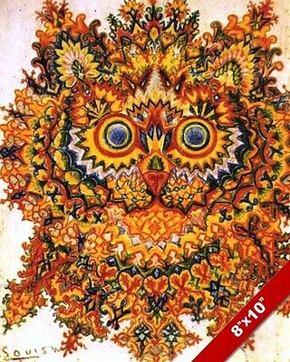 Cat Social Tea Party Louis Wain Painting Albert Hoffman Real Canvas Art Print