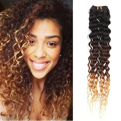 Brazilian Ombre Remy Curly Virgin TISSAGE CHEVEUX NATURELS REMY EXTENSION 50g