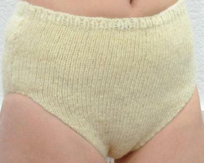 Size L Panties / Briefs Underwear for young girls yarn from Wool Sheep Handmade