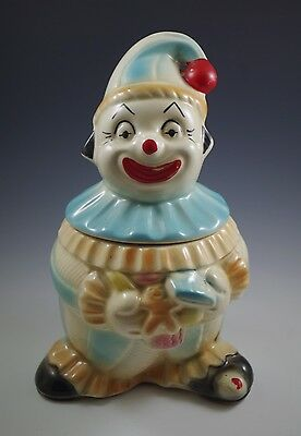 1940's Retro American Bisque Clown With Cookies -Cookie Jar, Rare