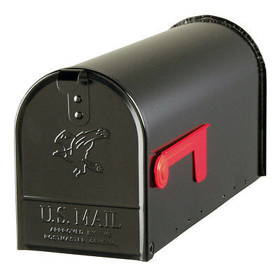 Solar Group E1100B00 Gibraltar Black Heavy Duty Elite Mailbox Standard T1 Size