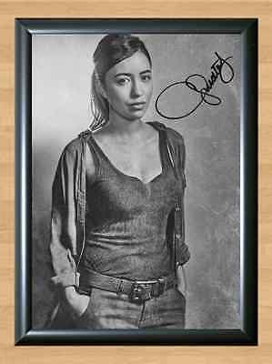 Christian Serratos Walking Dead S6 Rosita Signed Autographed A4 Print Poster