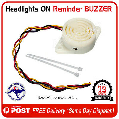 Auto Headlights On Reminder Warning Buzzer Alarm -  AU FREE POST