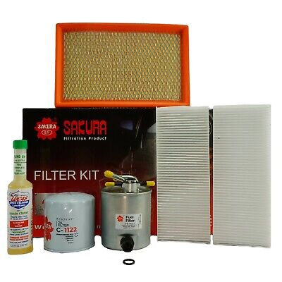 Nissan Navara D40 2.5L TDI YD25(Spain Built) Air, Fuel, Oil Filter Service Kit