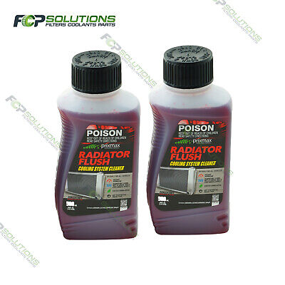 PRIXMAX Concentrate Radiator Flush Cleaner - 2 x 500ml makes up to 20ltr