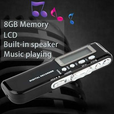 PRO 8GB 650Hr USB LCD Digital Audio Voice Recorder Dictaphone MP3 Player 2017 AD