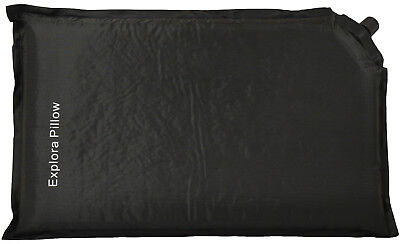 5cm Black Self Inflating Blow Up Camping Pillow/Cushion Travel Accessories