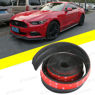 "Universal 100"" Car Lip Skirt Protector Front Bumper Spoiler Side Body Rubber"