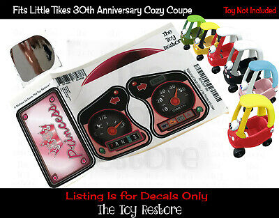 New Replacement Decals Stickers fits Little Tikes Tykes Cozy Coupe 30th Princess