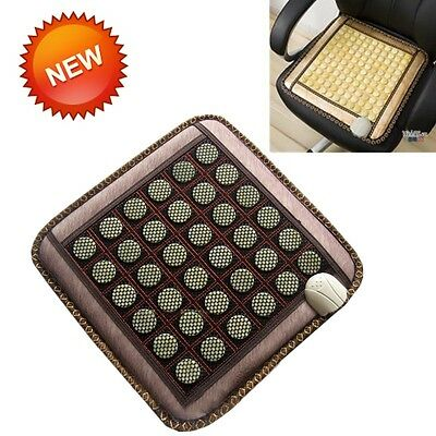 Muscle relaxation Jade Tourmaline Stone Ions FIR InfraRed Pad Heat Heal Mat