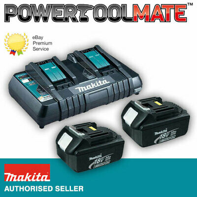 Makita Genuine BL1830 3.0ah Lithium-ion Battery - TWIN PACK & DC18RD