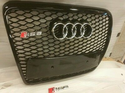 Audi Rs6 Grill A6 To Rs6 S6 C6 Se Sline Black Trim, Chrome Or Black Audi Rings
