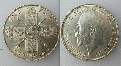 Collectable 1914 Silver One Florin Coin Of King George V