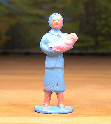 BARCLAY LEAD FIGURE LITTLE PEOPLE MOTHER w/ BABY #369 O - S SCALE TRAIN LAYOUTS