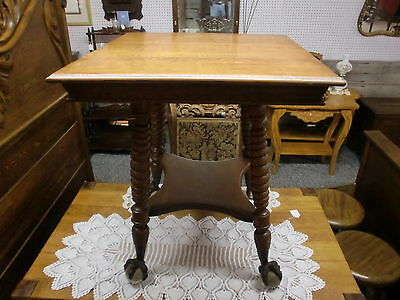 Outstanding Oak Large Claw and Ball Feet Table Stand Twist Legs