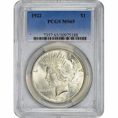 Peace Dollar PCGS MS65 (Random Year)