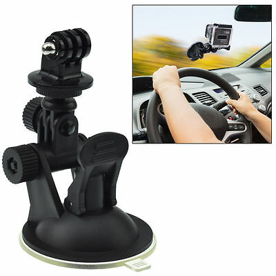 Car Suction Cup Mount Bracket + Tripod Adapter for GoPro Hero 2 3 3+ 4 5 Camera