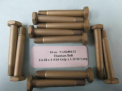 "Hex Head Aircraft Bolt Aerospace NAS6406-21 3//8""-24 x 1.766"" Long Titanium 4"