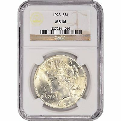Peace Dollar NGC MS64 (Random Year)