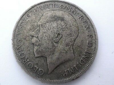 1920 UK GB 1 One FLORIN/ Shillings Great Britain Kingdom SILVER COIN 817a GEORGE