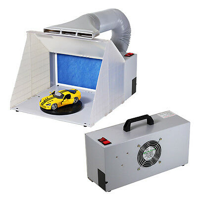 NEW Airbrush Spray Booth Kit Odor Extractor Hobby Craft Spray Paint Toy Model