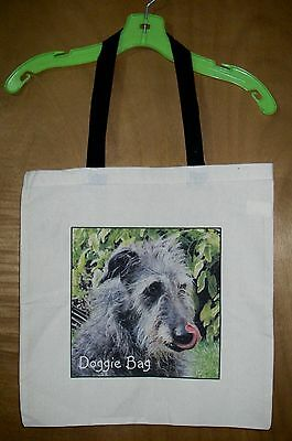 "SCOTTISH DEERHOUND  ""Doggie Bag""    100% Cotton Tote Bag / 15"" x 15"""