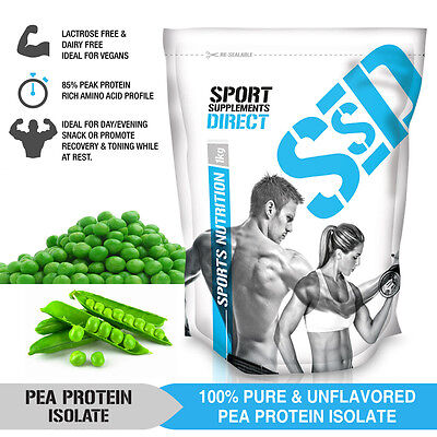 1Kg Pure Pea Protein Isolate - Unflavoured - Canadian Pea Protein 1 X 1Kg