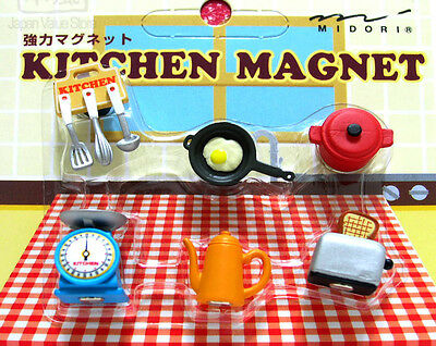 MIDORI Japanese Mini Magnet Deluxe Set - Kitchen Cookware ( 6 Pieces )