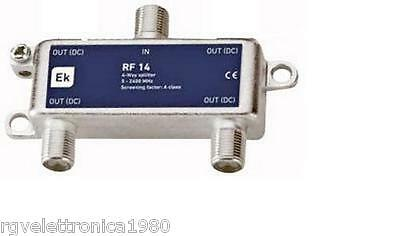 Partitore Splitter F Satellitare 1 Ingresso 2 Uscite Satellite Decoder Sky Sat