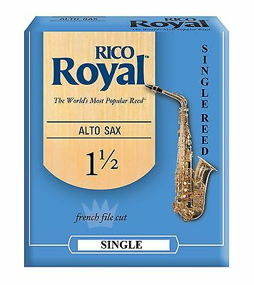 Rico Royal Alto Saxophone Single Reed Strengths 1.5 2 2.5 3 3.5 Free Delivery