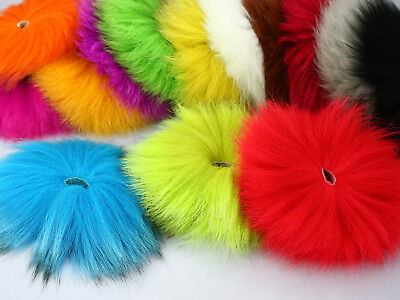 Dyed Arctic Marble Fox Tail Hair Fly Tying Material ,14 Different Colors,2 pcs